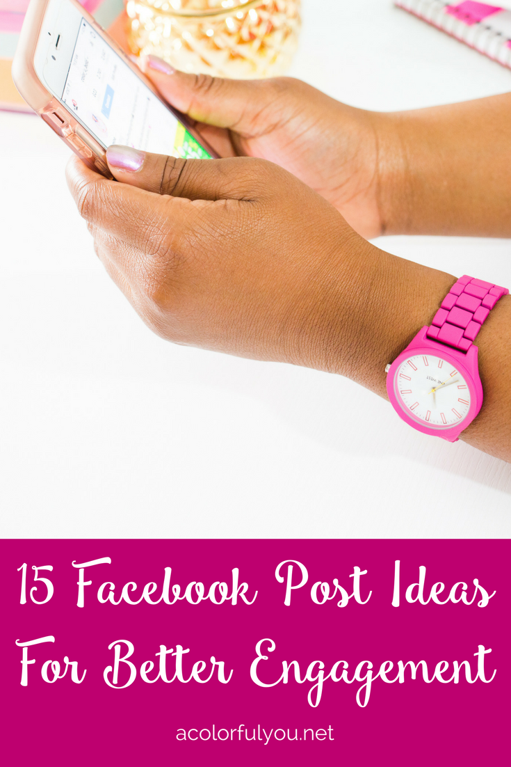 facebook post ideas for better engagement